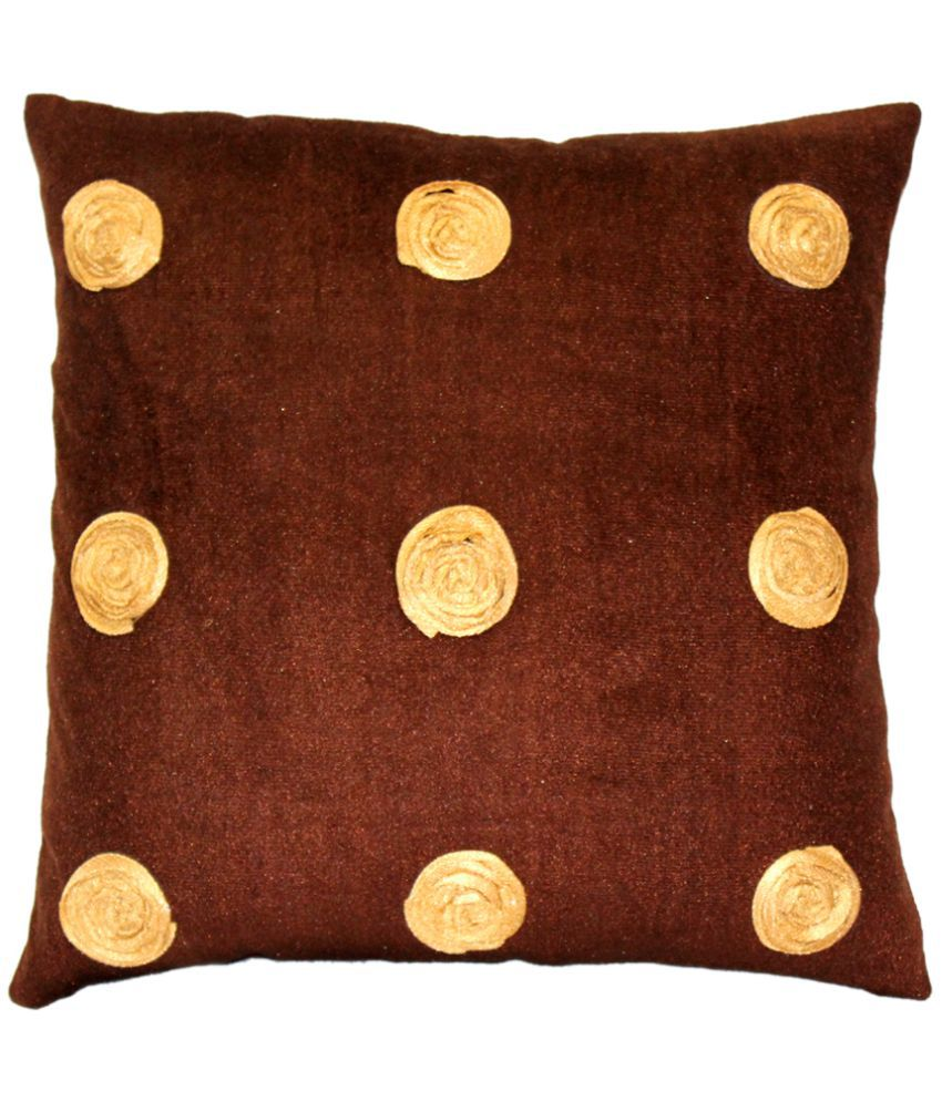 HOME ROYAL Single Polyester Cushion Covers 40X40 cm (16X16)