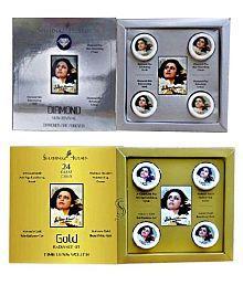 Shahnaz Husain Diamond & Gold Timeless Combo Facial Kit 80 g (40 Gm Each)