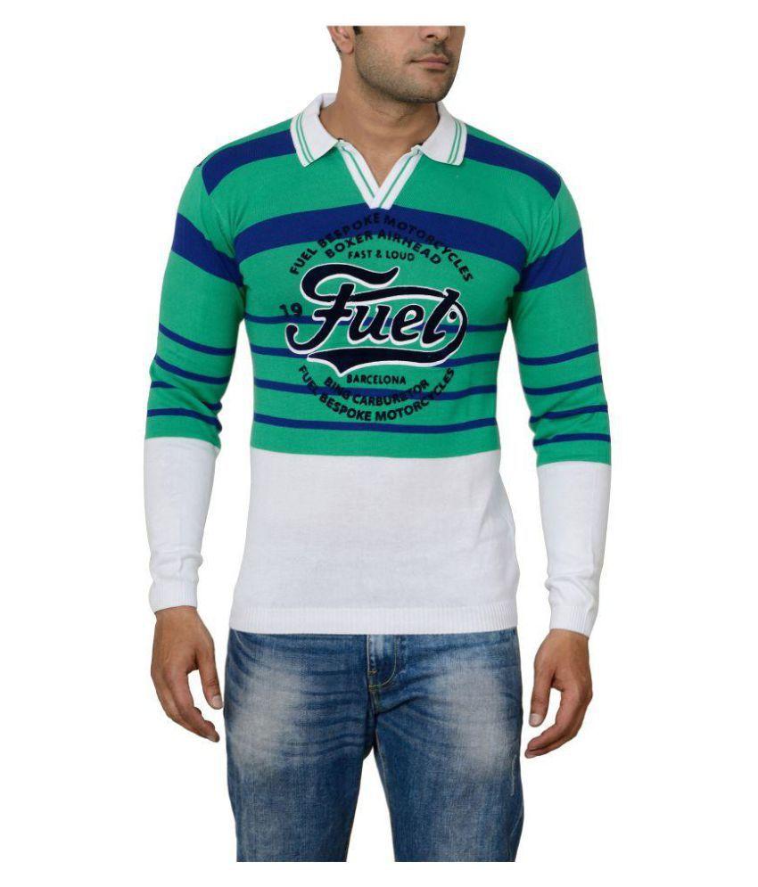Raab Green High Neck T-Shirt