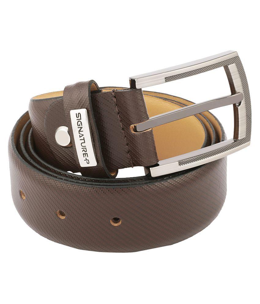 Signature Plus Brown Leather Formal Belt
