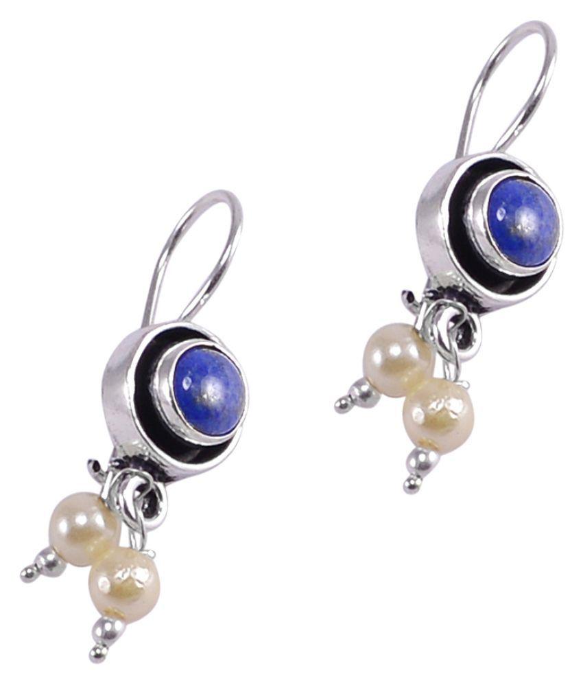Silvesto India Lapis Lazuli & Pearl Earring PG-121598