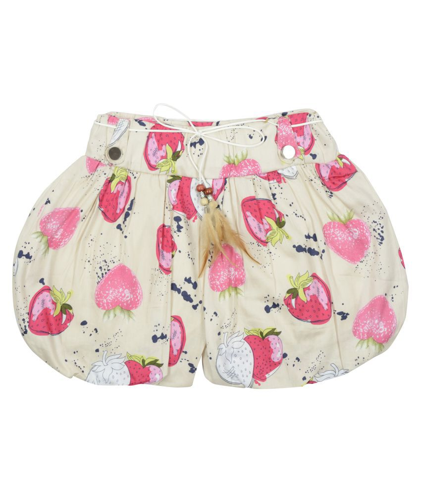 Carrel Cotton Fabric Printed Girls' Short