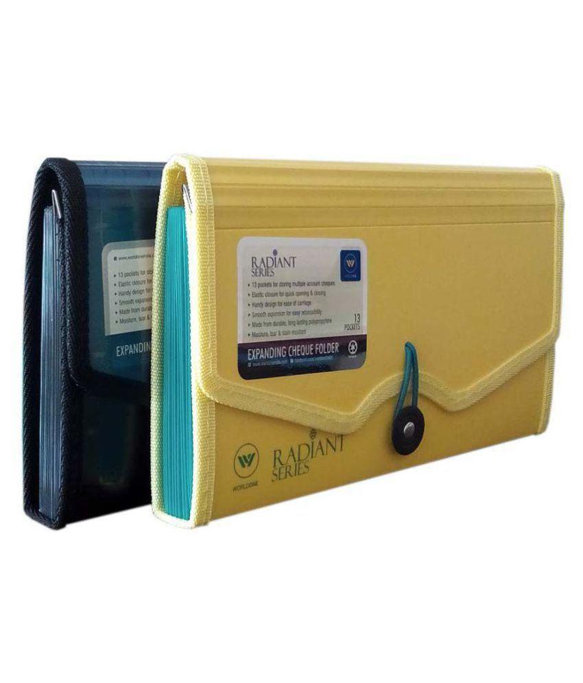 Worldone Expanding Cheque Book Folder Set of 2
