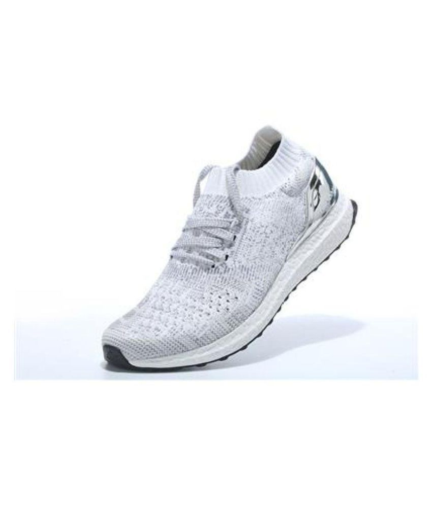 low priced 69510 fde21 Adidas ULTRA BOOST UNCAGED METALLIC SILVER Lifestyle White ...