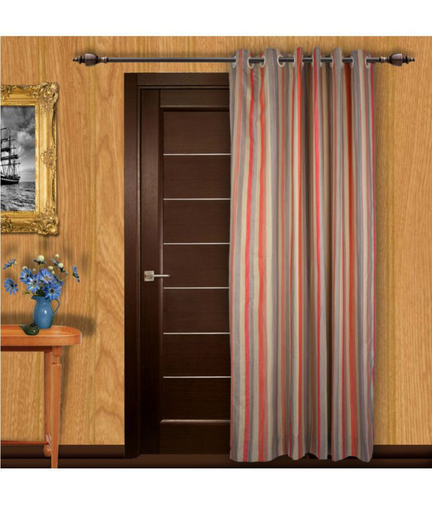 Just Linen Single Door Eyelet Curtains Stripes Multi Color