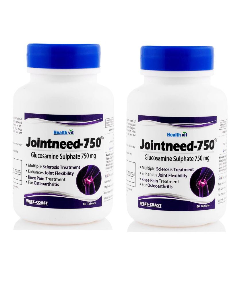 HealthVit Jointneed-750 Glucosamine Sulphate 750mg Pack of 2 Tablets 60 no.s