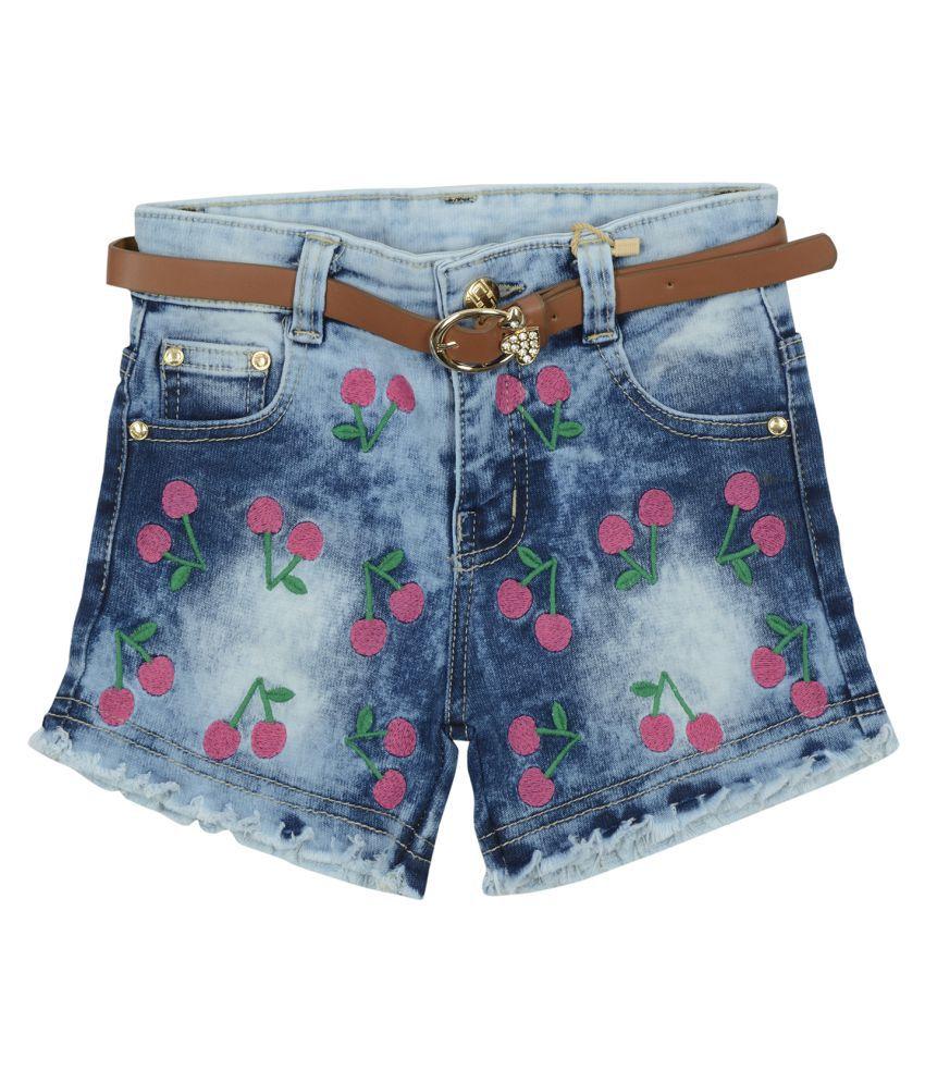 Carrel Girls Denim Blue Short