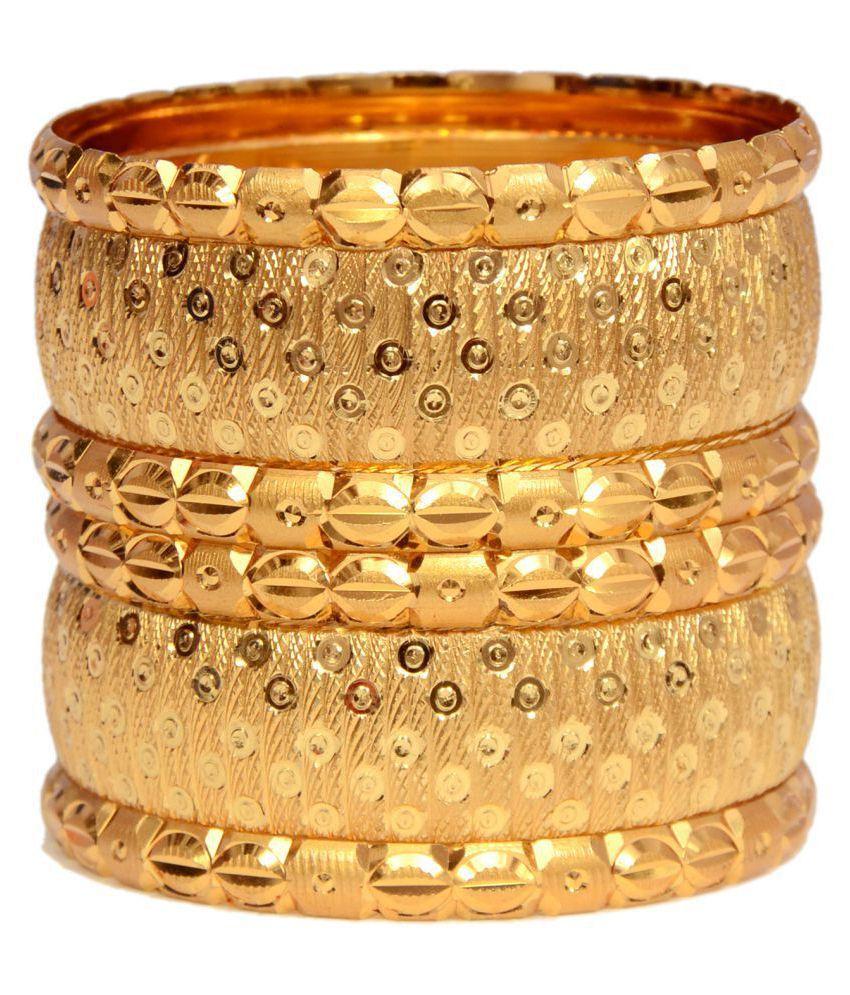 Mansiyaorange Traditional original look Golden Bangles For Women