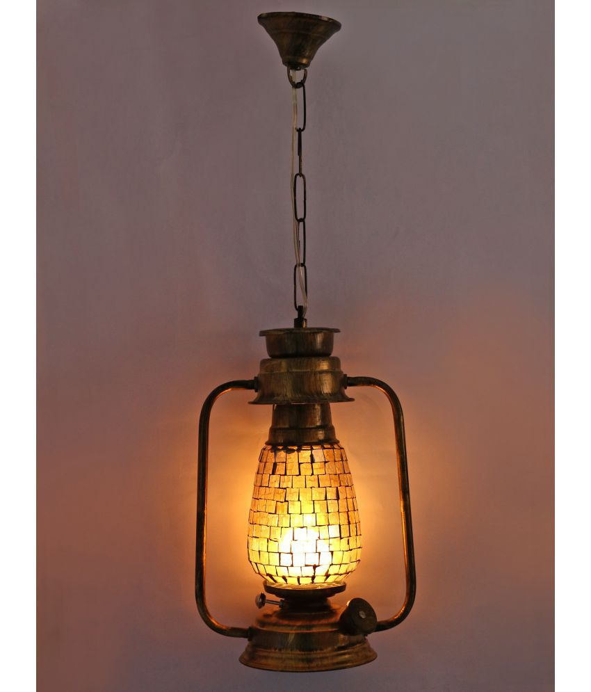 Afast Antique Lantern Lamp With Colorful Glass Perfect Match Of