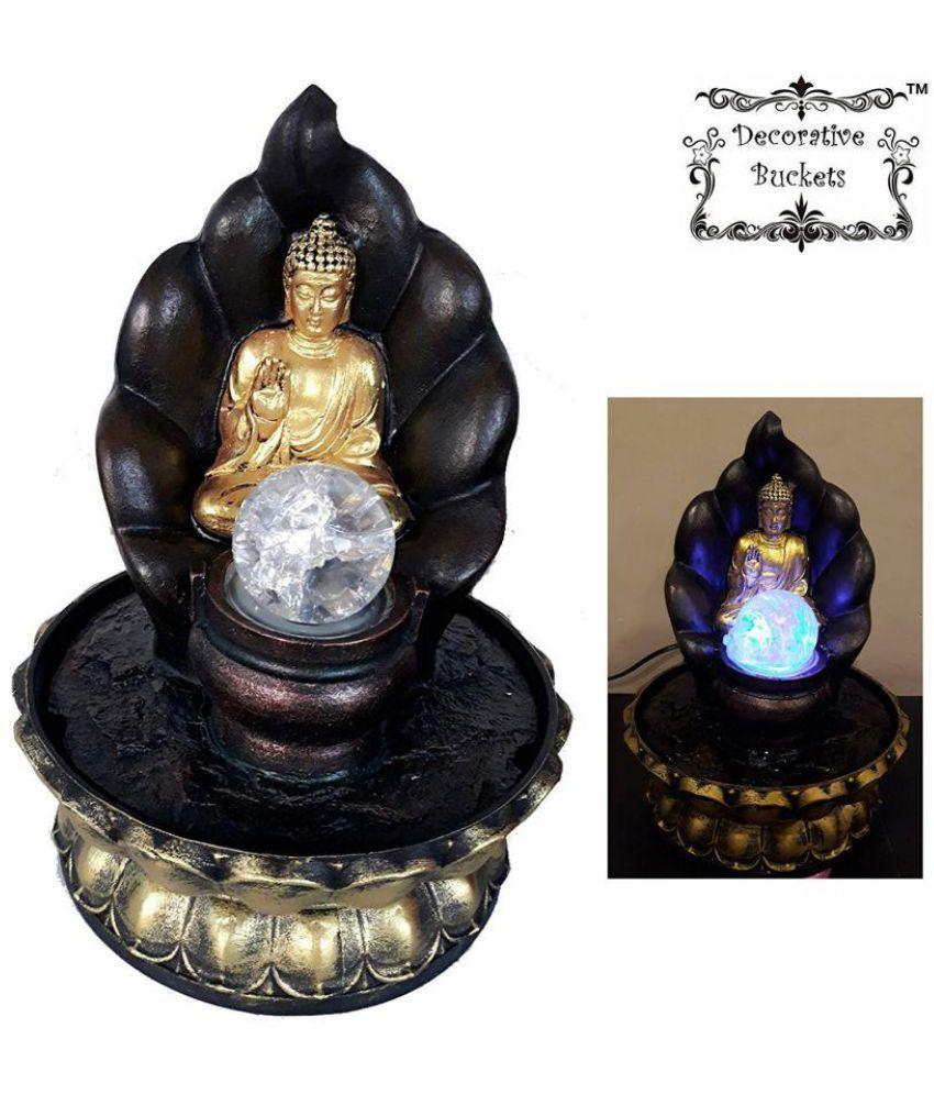 DECORATIVE BUCKETS Buddha Polyresin Idol
