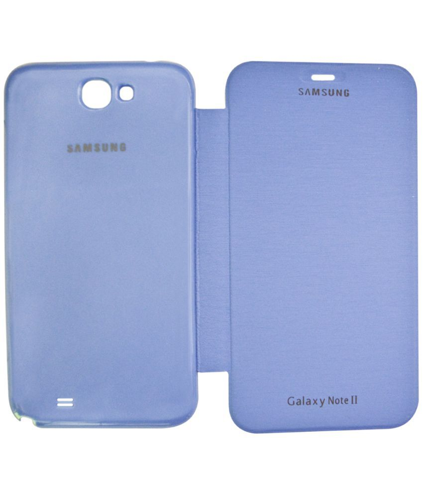 Samsung Galaxy Note 2 Flip Cover by Coverage - Blue