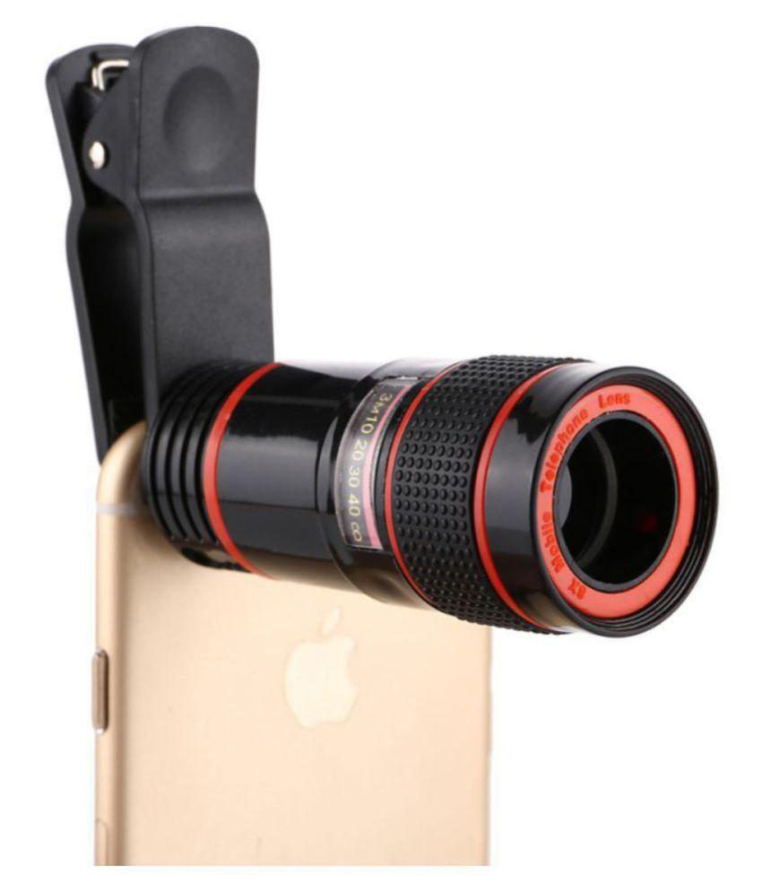 Sheeshaa Universal Clip 8X Zoom Mobile Phone Telescope Lens External  Smartphone lens