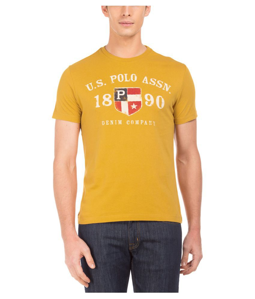 U.S. Polo Assn. Yellow Round T-Shirt