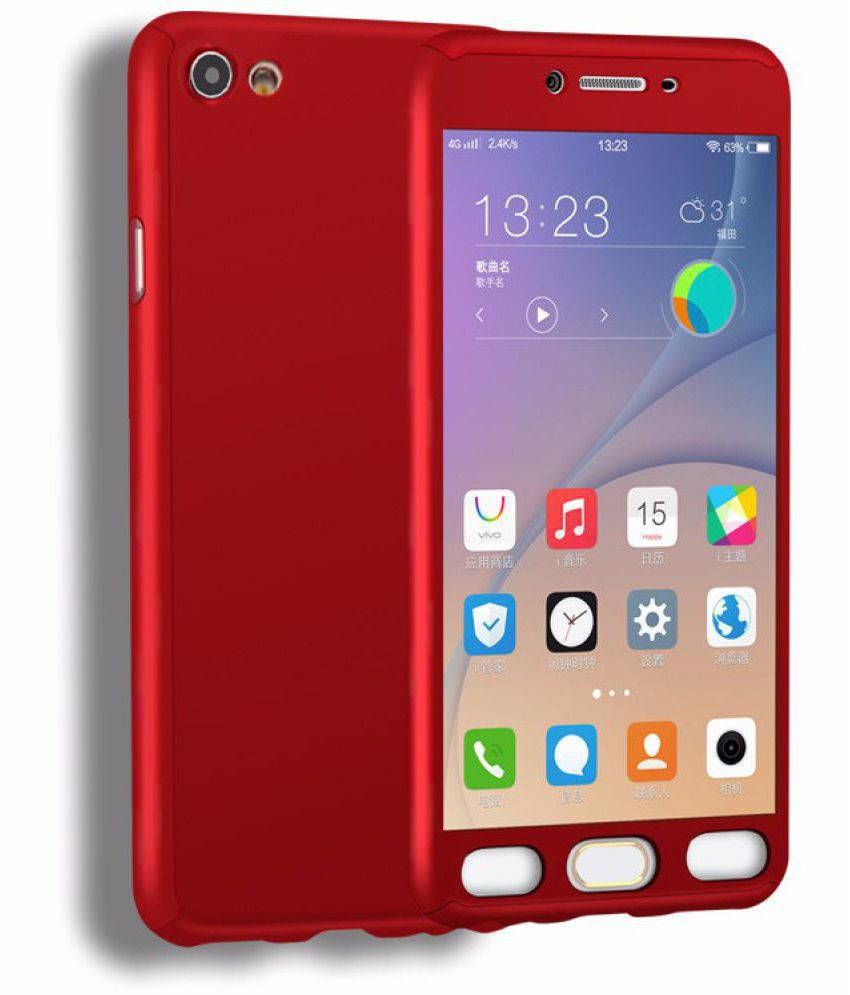 outlet store a8399 e9004 Vivo Y55L Hybrid Covers IPAKY - Red
