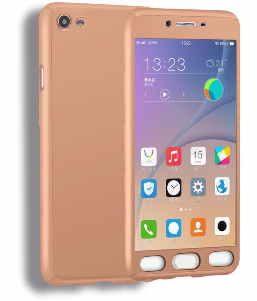 info for 23eff 48176 Vivo Y55L Hybrid Covers IPAKY - Golden