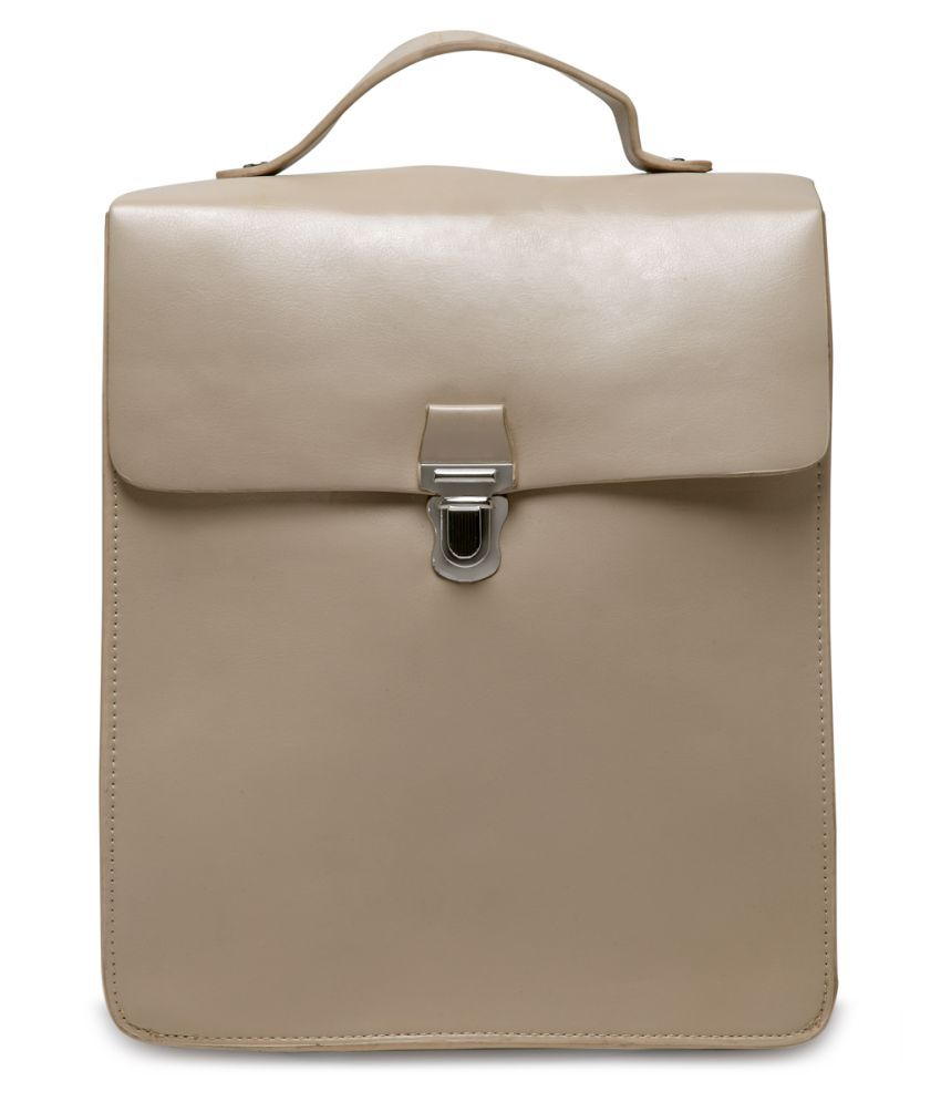 London Rag Cream Faux Leather Backpack