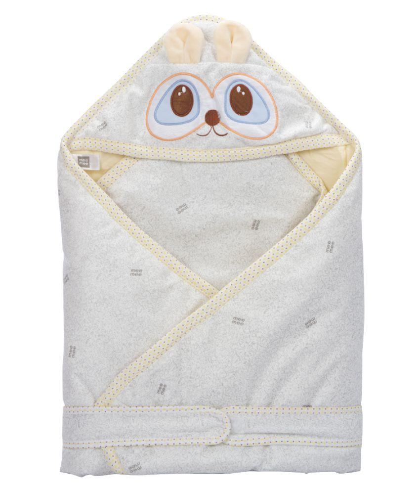 Mee Mee Beige Cotton Baby Wrap cum blanket ( 39 cm × 7 cm - 1 pcs)