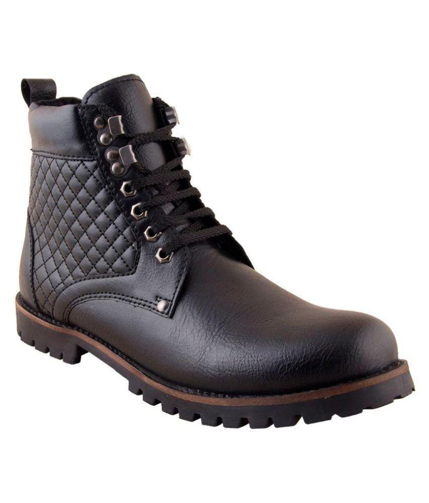 Red Marine Black Formal Boot