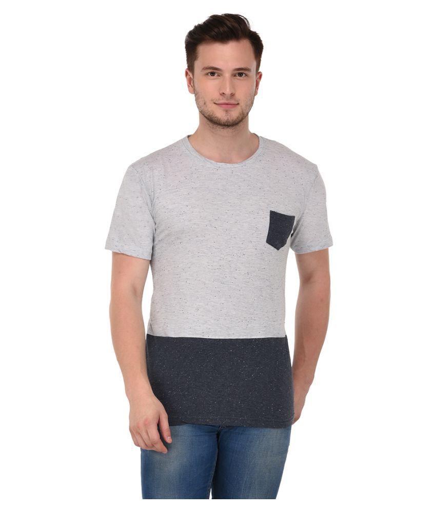 Adoski Grey Round T-Shirt
