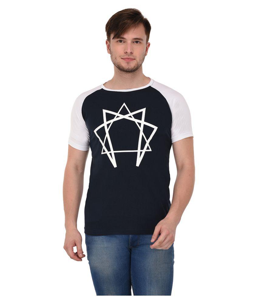 Adoski Navy Round T-Shirt