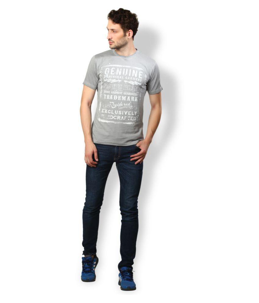 UV & W Grey Cotton T-Shirt