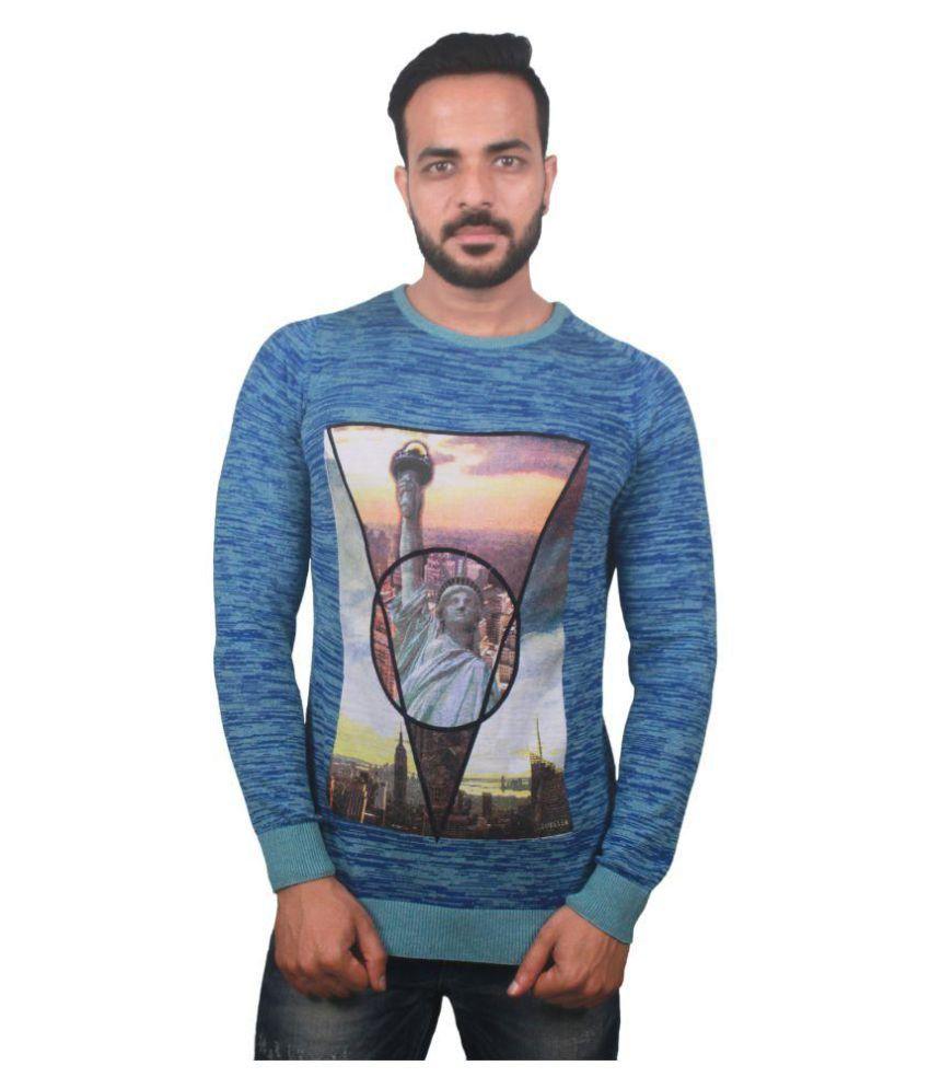 Raab Blue Round T-Shirt