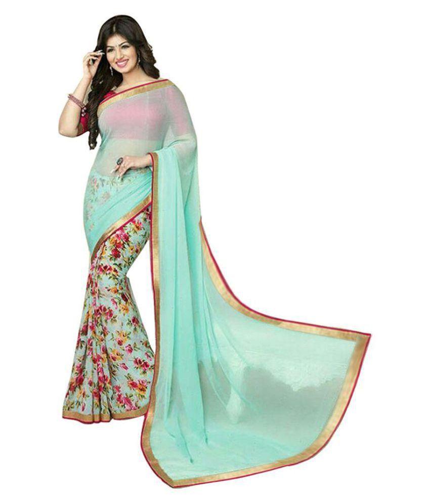 Lajree Designer Green Chiffon Saree