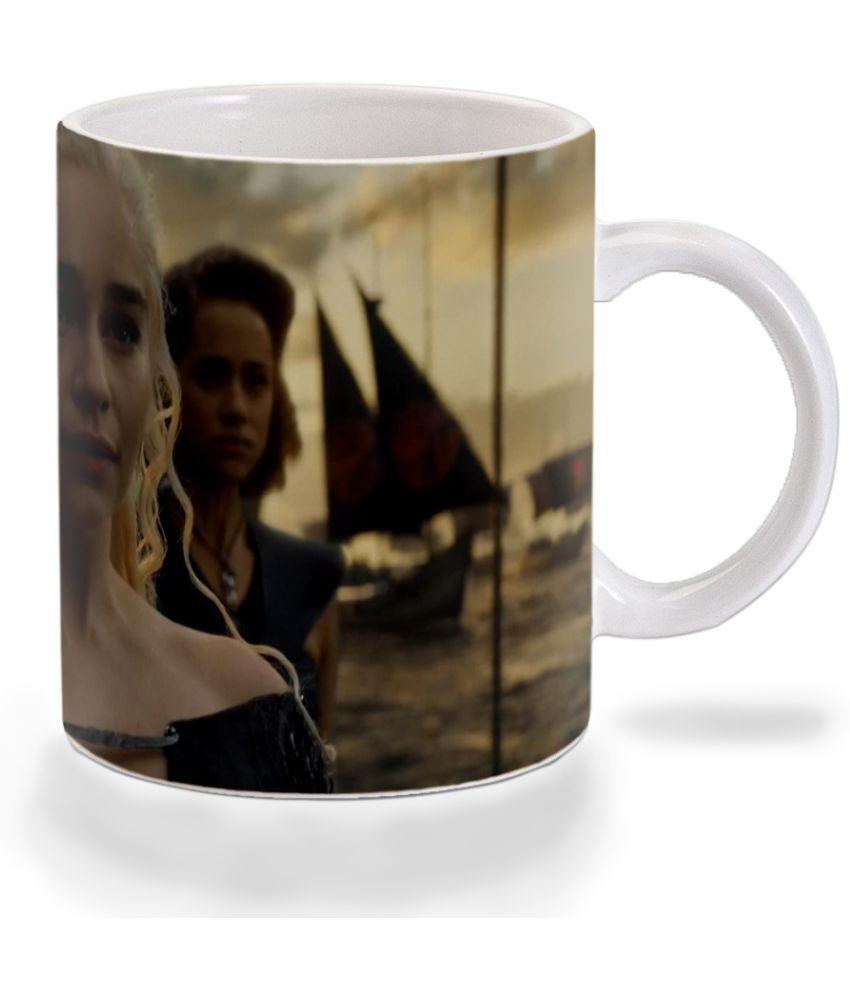 Mooch Wale GOT Daenerys Heading War Ceramic Dinner Set of 1 Pieces
