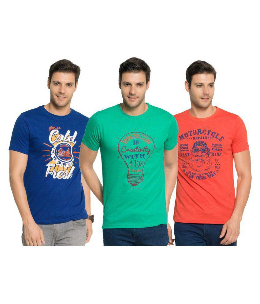 Zorchee Multi Round T-Shirt Pack of 3