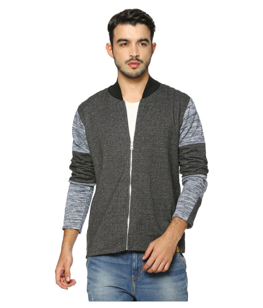 2f422e996 Campus Sutra Grey Quilted & Bomber Jacket