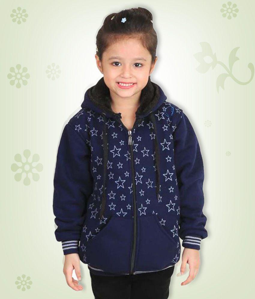Crazies Dark Blue Jacket for Girls
