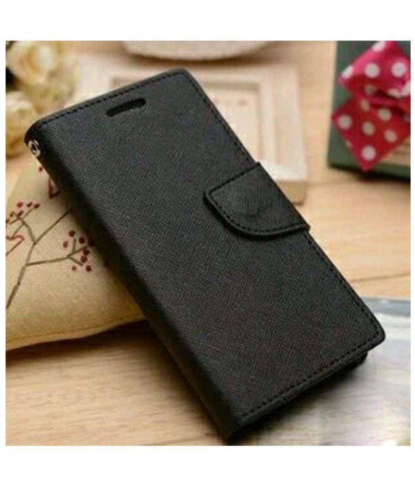 HTC Desire 626G+ Flip Cover by Red Plus Mercury - Black