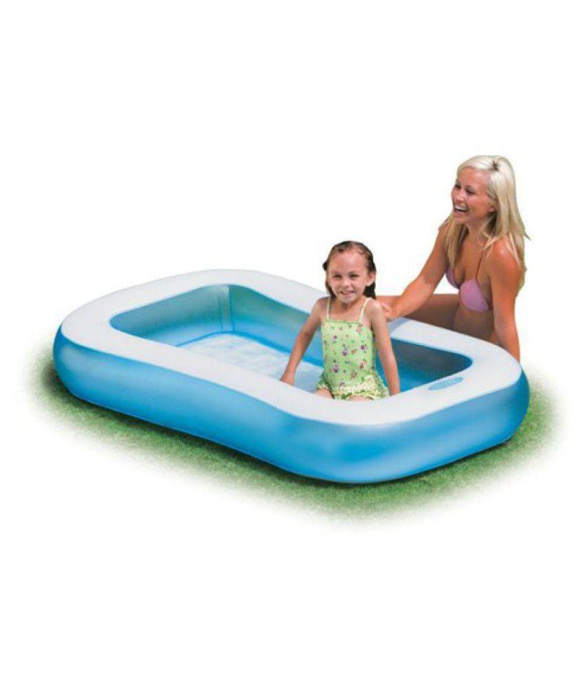 Shiv International 5 Feet Regtangular Inflatable Kids Swimming Pool