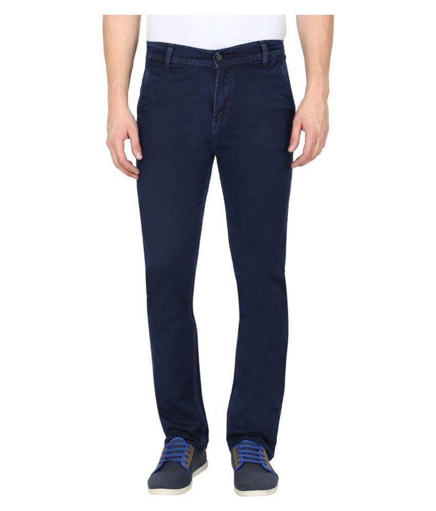 gradely Dark Blue Regular -Fit Flat Trousers