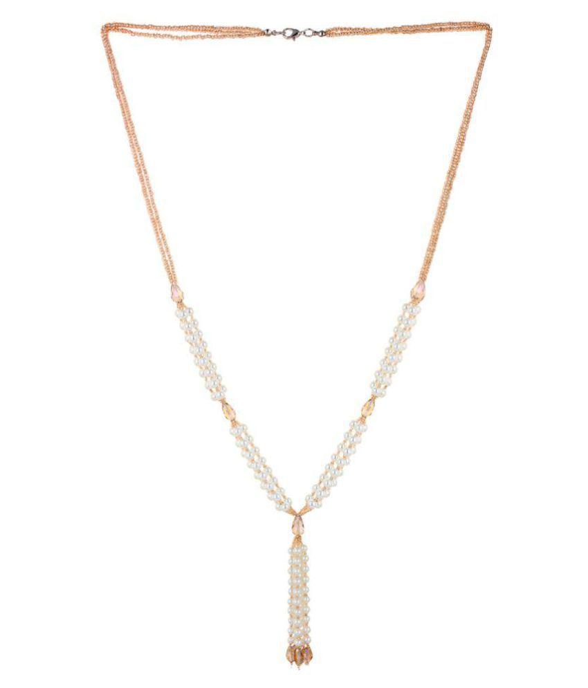 Lesk White Multistrand Bead Necklace