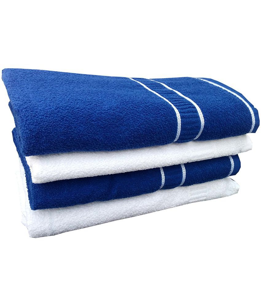 Earth Ro System Set of 4 Cotton Bath Towel Multi