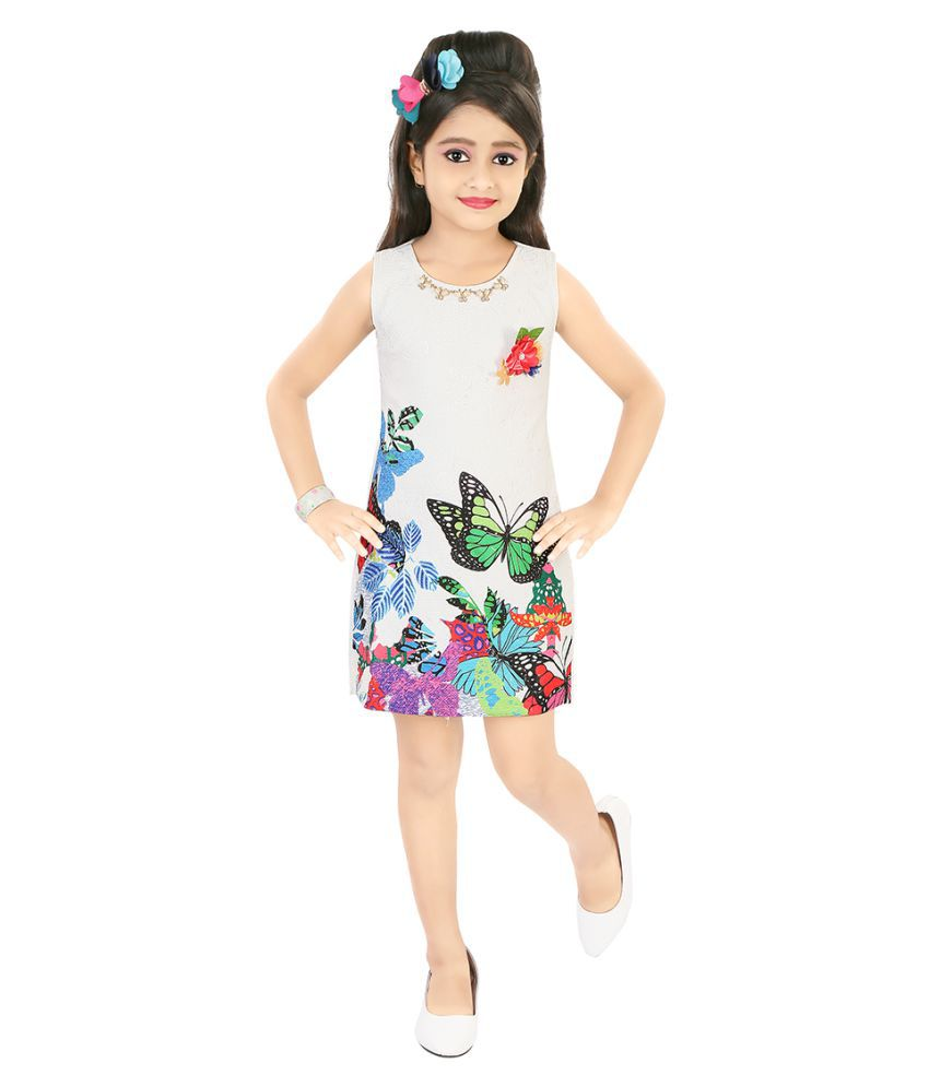 52c235cd0bd4 Justkids White Frock - Buy Justkids White Frock Online at Low Price ...