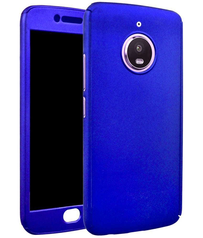 check out 49719 a0a7d Motorola Moto E4 Plus Plain Cases Coverage - Blue