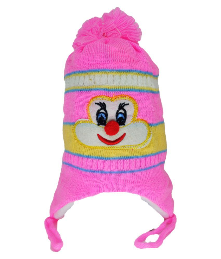 Kids Winter Cap / Woolen Cap ( Pink )