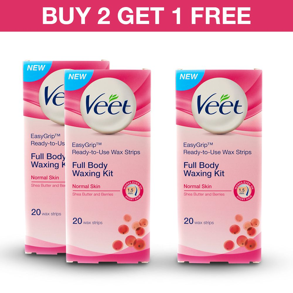 Veet Cold Wax Strips Normal Pack Of 3 Buy Veet Cold Wax