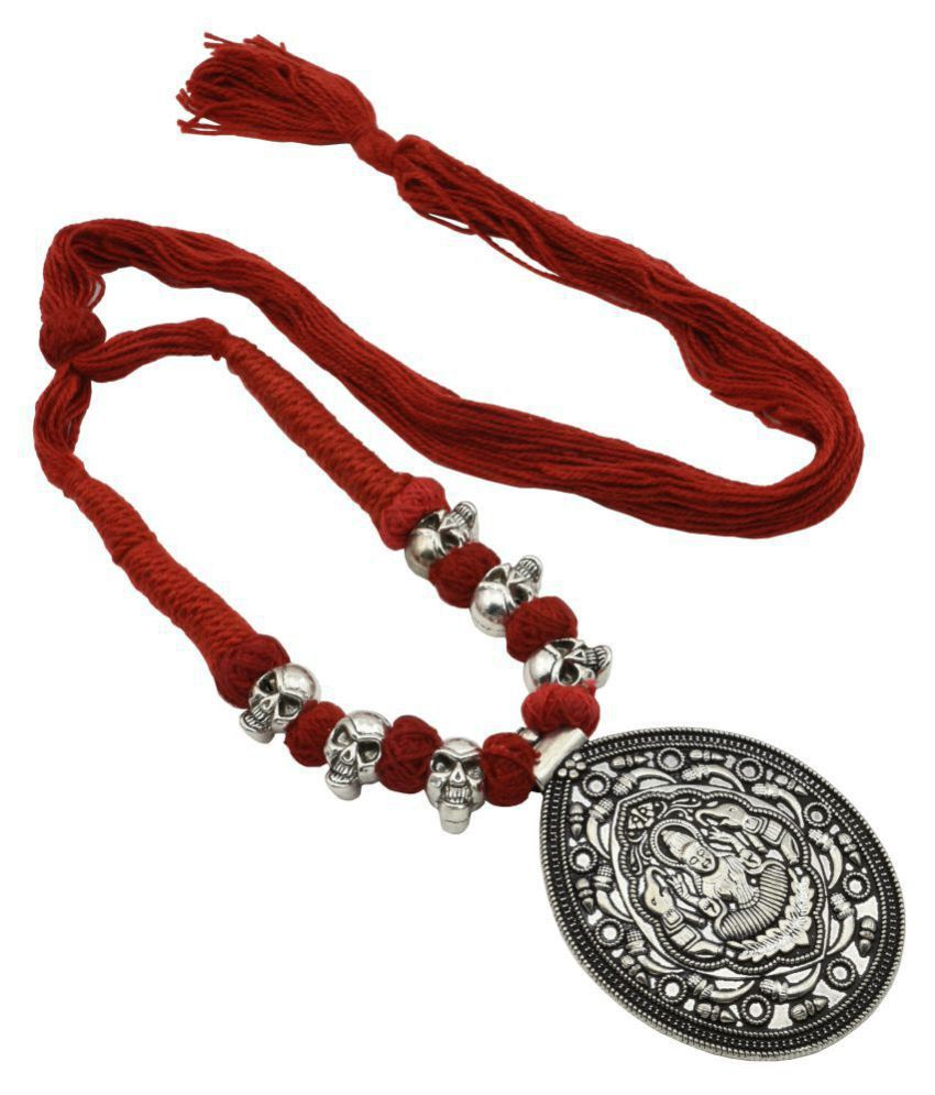 High Trendz Antique Oxidized Thread Jewelry Necklace For Women & Girls
