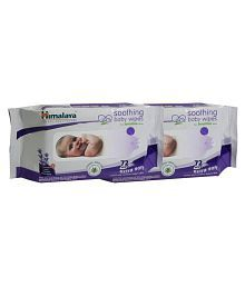 Himalaya Soothing Baby Wipes 72 Pieces, (Pk of 02)