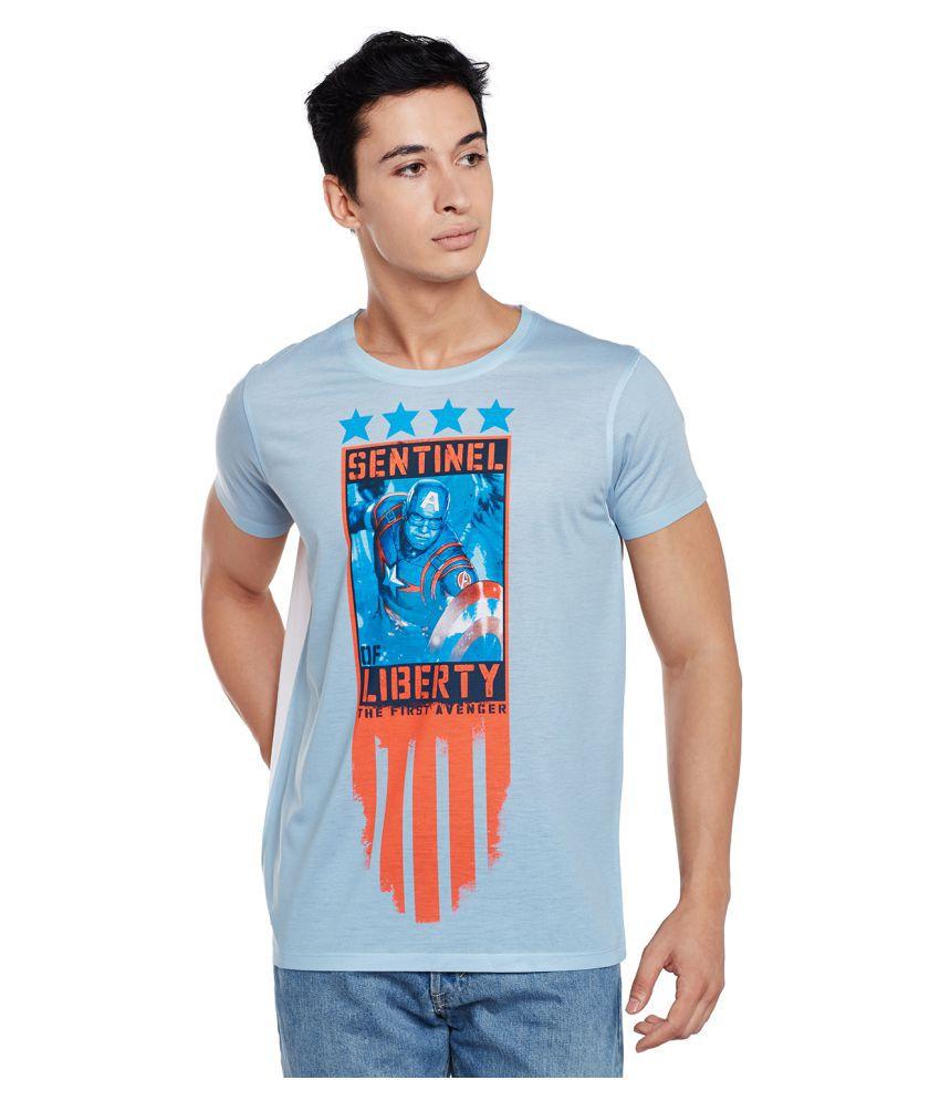 Marvel Avengers Blue Round T-Shirt