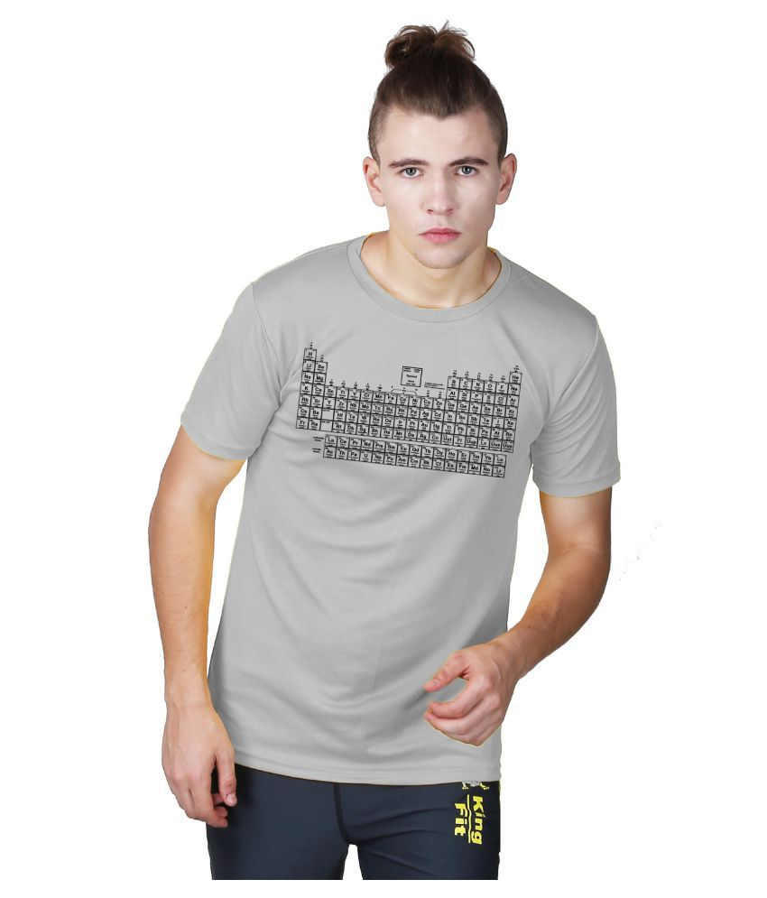 Essenze Grey Polyester T-Shirt Single Pack