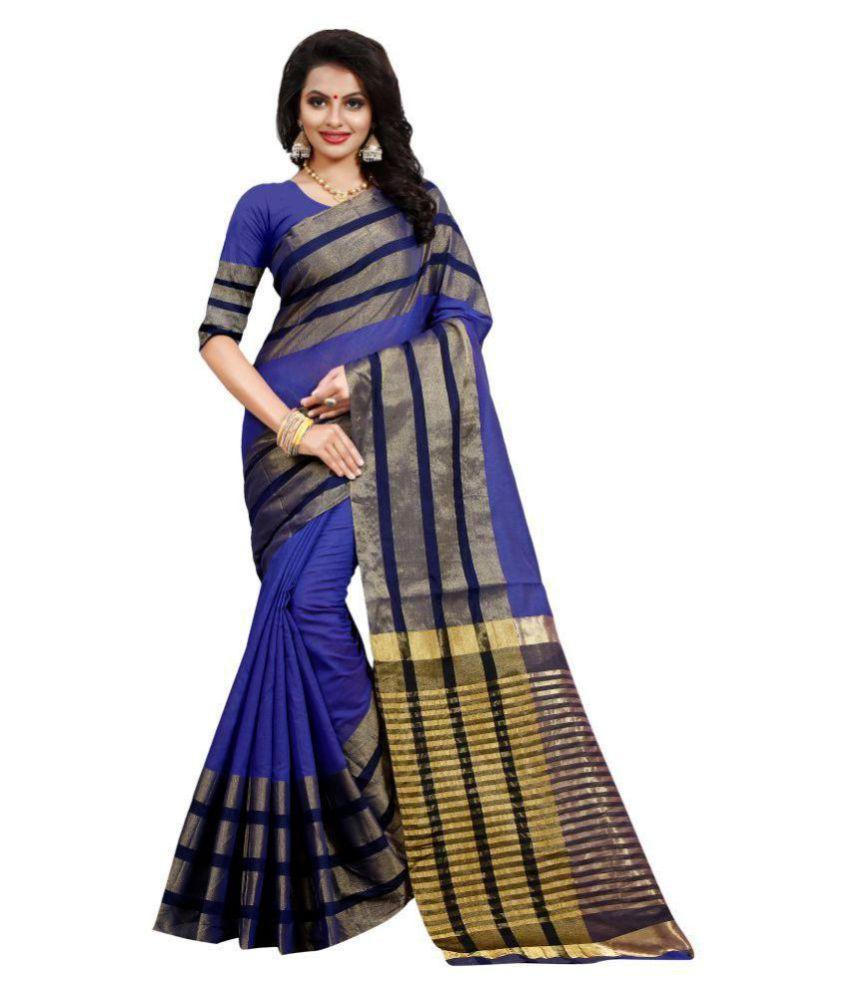 Pari Designer Blue Cotton Silk Saree