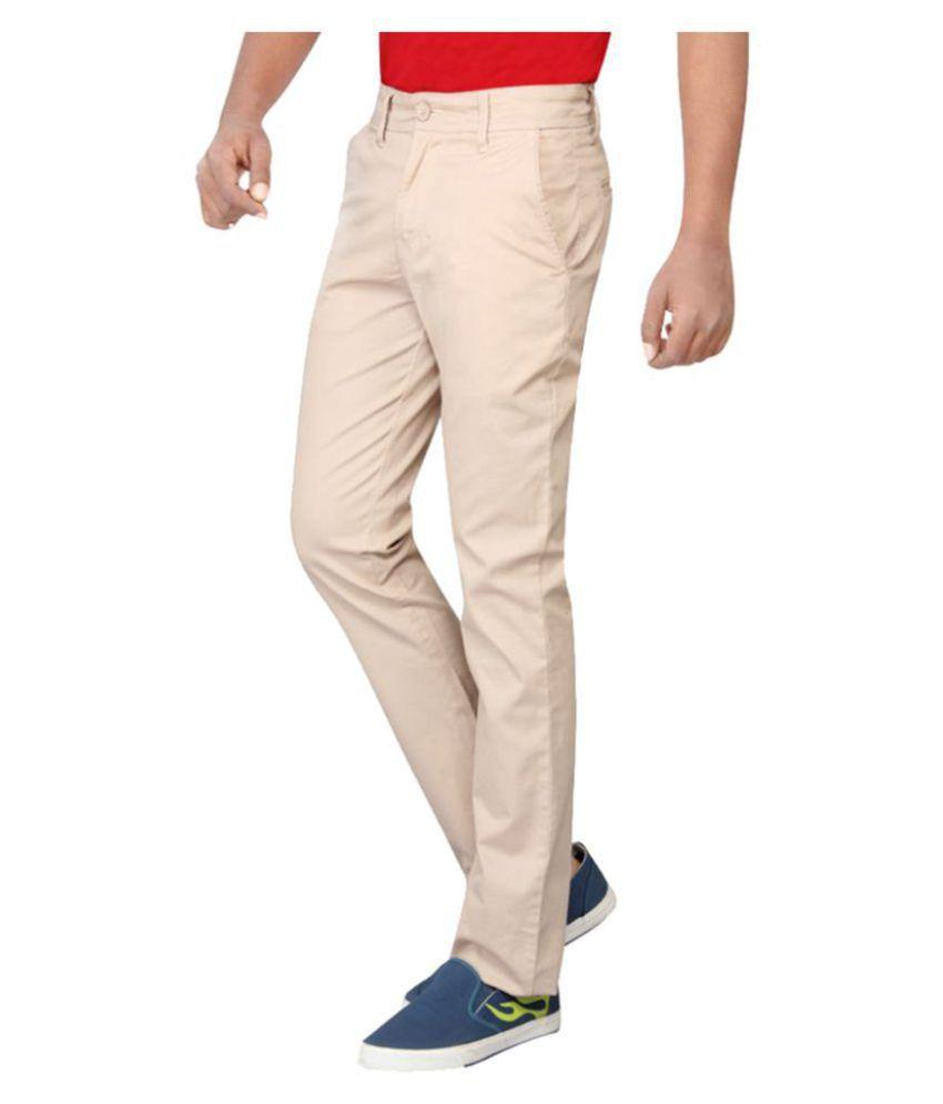 Pepe Jeans Beige Slim -Fit Flat Chinos