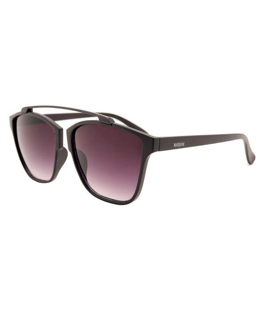 NASAN Purple Aviator Sunglasses ( FSM180 )