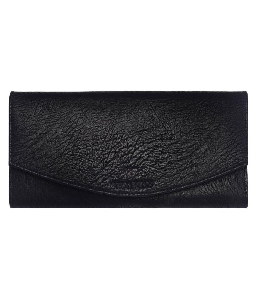 Walrus Black Faux Leather Handheld