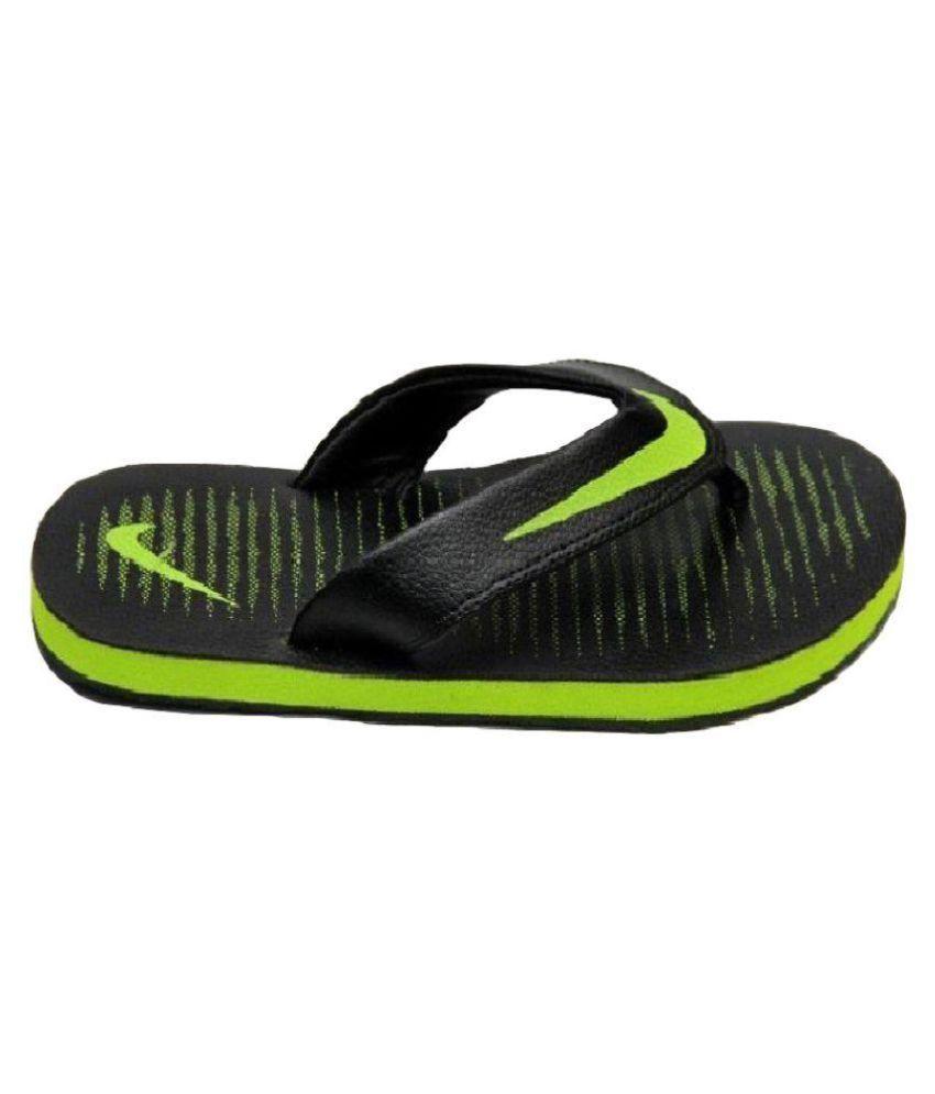 95df7a429 ... Nike Action slipper CROMA Thong 5 black green Black Thong Flip Flop ...