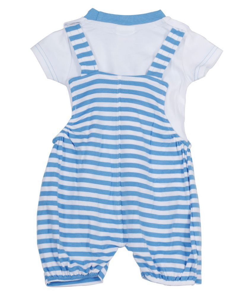 b75195f676d ... Popees Baby Care 100% Combed Cotton Dungaree Set for Baby Boys (12-18  ...